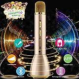 Drahtloses Mikrofon Kinder,Bluetooth Mikrofon Karaoke Kabellos,Karaoke Mikrofon Wireless...