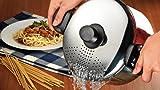 Topf Spaghetti Nudeltopf Nudel Gemüsetopf Pastatopf Induktion Edelstahl 22 cm