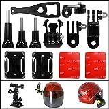Actionkamera Helm Halterung Set mit Helmhalter +Winkelhalterungen +Schnellspannschnalle +Schrauben...