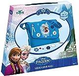 Frozen Bastel-Set: Umhänge-Tasche mit Anna und Elsa-Druck – zum Selber Verzieren mit Steinen,...