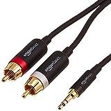 AmazonBasics Cinch-Audiokabel, 3,5-mm-Klinkenstecker auf 2 x Cinch-Stecker, 4,57m