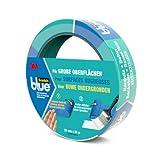 Scotch Blue 20962425 Malerabdeckband (Malerkrepp) optimale Klebkraft auf groben Oberflächen, 24 mm...