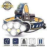 SYOSIN LED Stirnlampe USB Wiederaufladbar Kopflampe, 7 LED 8 Modi,Superheller,Wasserdicht...