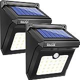 BAXiA Solarleuchten für Außen, 28 LED Solar Licht mit Bewegungssensor Kabelloses Wasserdichte...