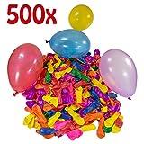 Belmalia 500 Wasser-Bomben Mega-Pack Bunte Wasserballons in Rot Gelb Lila Blau Orange Pink Grün