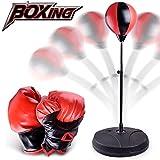 WoBoSen Punching Punchingball Boxen set mit Boxhandschuhen & Pumpe für Kinder Jugend Erwachsene...
