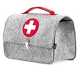 Stil-Macher Arztkoffer aus Filz VEGAN | Doktortasche aus weichem Filzstoff | 23x32x15 cm (HxBxT) |...