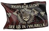 Original RAHMENLOS Design-Flagge für den Wikinger Fan: See us in Valhalla