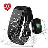 Fitness Armband,GULAKI Pulsmesser Uhr Bluetooth 4,0 Fitness Tracker Mit Herzfrequenz,Fitness...