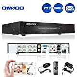OWSOO 8CH Netzwerk DVR Digitaler Videorekorder ( Voll 960H/D1 h. 264 P2P) CCTV Sicherheit Telefon...