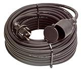 as - Schwabe 60340 Gummi-Verlängerung, 50m H07RN-F 3G1,5, schwarz, IP44 Gewerbe, Baustelle