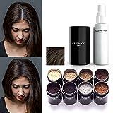 VOLUME HAIR Fibers & Fix-Spray - dunkelbraun | Schütthaar & Volumen Spray zur Haarverdichtung....