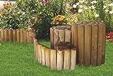 Beetumrandung Rasenkante aus Holz Beetzaun 20 cm hoch 250 cm lang von Gartenpirat®