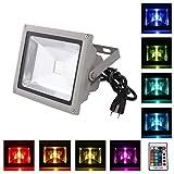 Loftek 920WFL LED-Außenscheinwerfer, Wandbefestigung, RGB/RVB, leistungsstark, 16 Farben im...