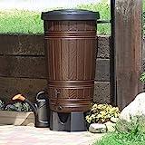 Regenwassertonne Regentonne Regenbehälter Regentank Amphore 265L 2 Farben Wasserhahn wählbar...