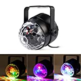 Agapo USB LED Discokugel DJ Partylicht Bühnenbeleuchtung Lichteffekte mit Fernbedienung 5W RGB für...