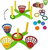 XL Set _ Wurfspiel - ' UMBAUBAR ' - Ringwurfspiel & Ballwurfspiel - aus Kunststoff / Plastik - incl....