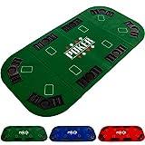 Maxstore Faltbare XXL Pokerauflage für bis zu 8 Spieler, Maße 160x80 cm, MDF Platte, 8...