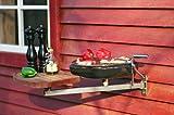 Nielsen Outdoor Balkon-Grill mit Tragarm und Schneidebrett