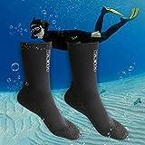 Tauchsocken Neoprensocken 3mm-Dicke Wassersport Tauchen Schwimmen Socken, Easy Fit Schuhe für...