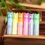 fendii Lovely Ninja fluoreszierend Mini Textmarker Pen Marker 6 Farben 6