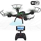Beebeerun WiFi FPV RC Quadcopter Drohne mit Kamera Live Video 2,4 GHz 6-gyro Headless Modus Altitude...