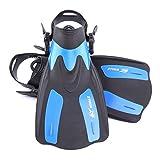 Lixada Erwachsene Kurz Flippers/Schnorcheln SchwimmFlossen(Regulierbaren Fersen)