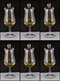 6 Whisky Gläser Form Signatory mit Knopfdeckel ohne lästige Werbung im Karton, versandkostenfreie...