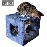 Katzenhöhle fürs Regal von PetPäl   Design Kuschelhöhle für den Schrank Inklusive Kissen   Für...