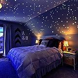 Sternenhimmel Aufkleber Pack von 909, Set mit Adhesive Stars, Mond und Free Constellation Guide, 3...