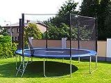 Trampolin mit Sicherheitsnetz, inklusive Leiter und Randabdeckung Gartentrampolin 250, 305, 370,...
