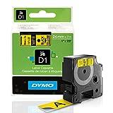 DYMO D1 Standard 24mm 24mm x 7m, S0720980 (24mm x 7m Black on yellow,)