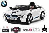 Lizenz Kinderauto BMW I8 2x 35W Motor Elektroauto Kinderfahrzeug IR Elektro (Weiss) 1191129