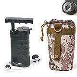 Aokur tragbarer Soldaten-Wasserfilter Filter Pumpe für Survival Outdoor Wandern Camping Notfall...