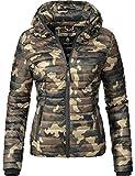 Marikoo Damen Jacke Steppjacke Samtpfote (vegan hergestellt) Camouflage Gr. S
