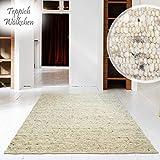 Hand-Web-Teppich | Reine Schur-Wolle im Skandinavischen Design |Für Wohnzimmer Esszimmer...