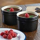 Mason Cash perfekt Ofengeschirr Dessert dishes- Set von 2–Schwarz Keramik feuerfest...
