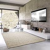 Hand-Web-Teppich 'Amrum'   Handgewebte Schurwolle im modernen Design   Fürs Wohnzimmer, Esszimmer,...