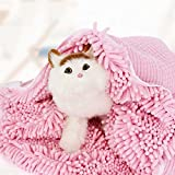 LaiXin Dog bathrobe Zellar Microfibre Towel Pet Robe Cat Towel Quick Drying and Fast Absorbent...