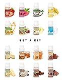 ALPHAPOWER FOOD Vegan Aroma 1400%* liquid Konzentrat, Geschmack 5x10ml Set, Flavour Drops, Flavdrops...