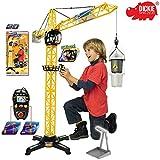 Dickie Spielzeug Riesen Kran mit Kabelsteuerung und offener Kabine, 100 cm: 100 cm Baukran Baustelle...