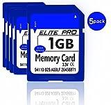 5 stücke x1 GB Sicherheit Digitalspeicher SD Karte, High Speed, kompatibel mit kameras, camcorder,...