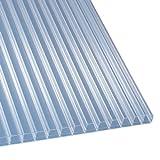 Polycarbonat Stegplatten Hohlkammerplatten klar 3500 x 1200 x 16 mm (36,29 EUR/qm)