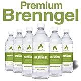 6 x 1L Brenngel für Gel Kamine & Gel Feuerstellen - Hergestellt aus TÜV-geprüften Premium...