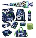 Familando Fußball Schulranzen-Set Scooli Campus FIT 10tlg. mit Sporttasche, Schultüte 85cm groß...