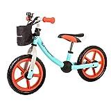 Kinderkraft 2Way Next Kinder Laufrad Lernlaufrad 12 Zoll Verstellbar ab 2 Jahre (blau)