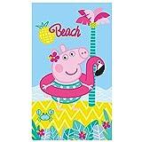 PEPPA Wutz Badetuch · PEPPA PIG BEACH Strandtuch · Palme, Strand & Meer · 70x120 cm · 100%...