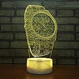 L2eD 3D Illusion Lampe Led Nachtlicht USB/Batteries Tischlampe 7 Farben Berührungsschalter Acryl &...