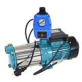 Kreiselpumpe Hauswasserwerk Gartenpumpe MHi 1300 Watt 6000 L/h 5,5 bar mit Schaltautomatik...