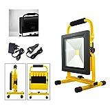 VINGO LED Lampe Fluter mit AKKU Strahler handlampe 50w Baustrahler 4500LM Wiederaufladbare...